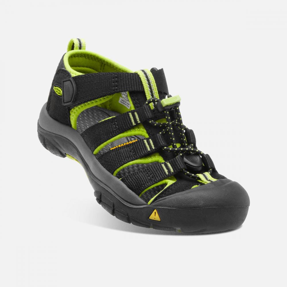 KEEN NEWPORT H2 YOUTH BLACK/LIME GREEN