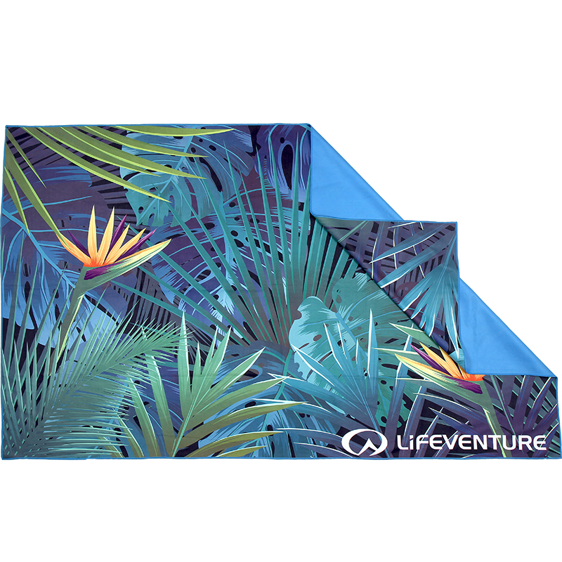 LIFEVENTURE PRINTED SOFTFIBER TREK TOWEL TROPICAL