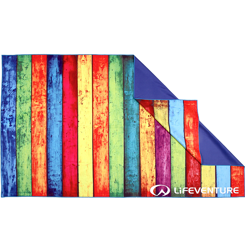 LIFEVENTURE PRINTED SOFTFIBER TREK TOWEL STRIPED PLANKS
