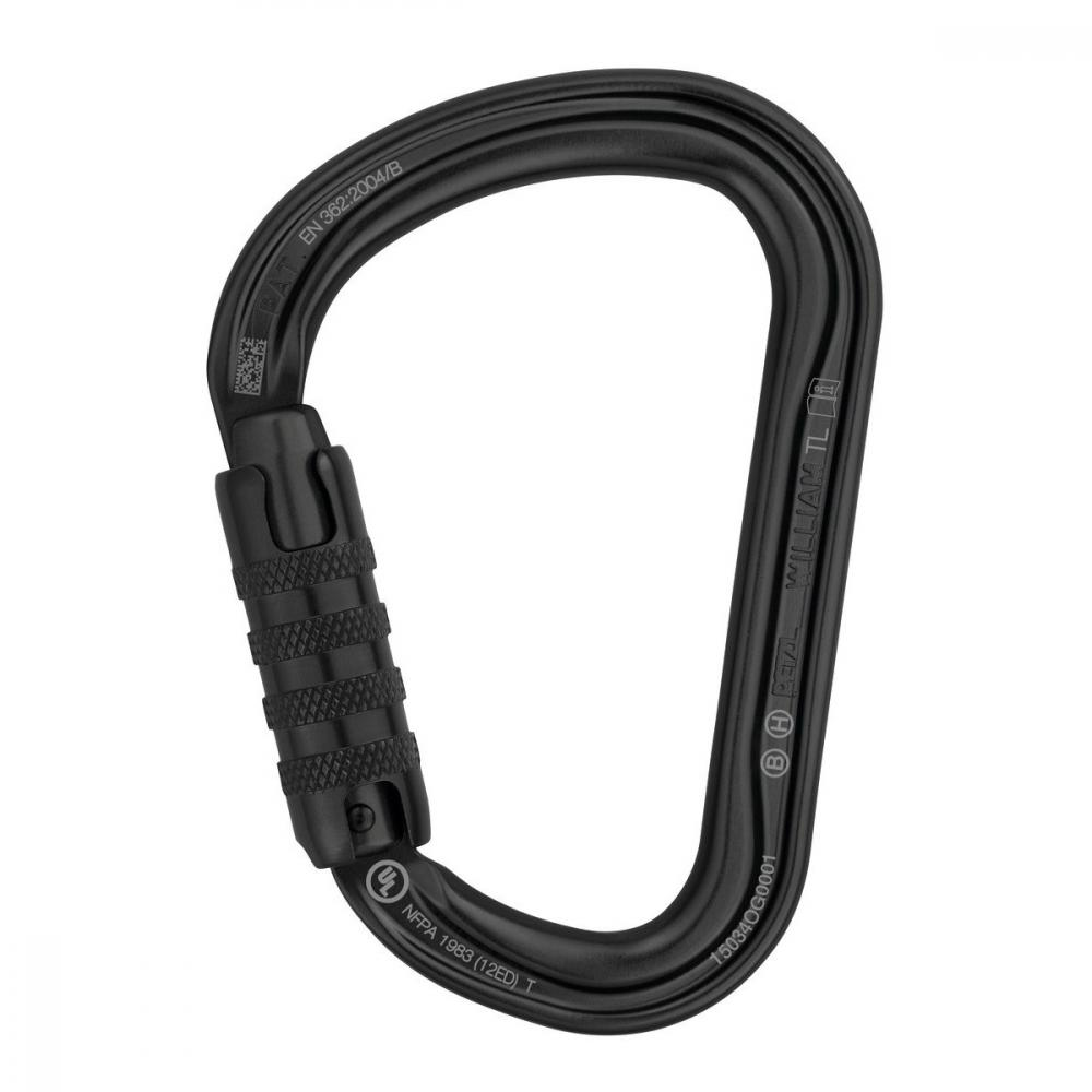 PETZL WILLIAM TRIACT-LOCK/BLACK